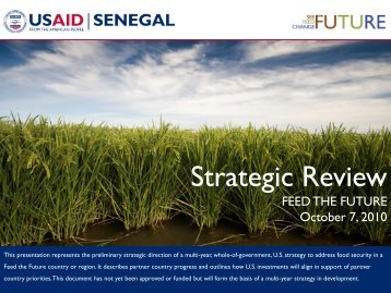Senegal Strategic Review - Feed The Future