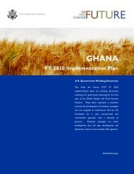Ghana FY2010 Implementation Plan - Feed the Future