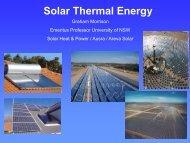 Solar Thermal Energy Systems - Graham Morrison