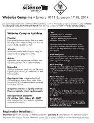 Webelos Camp-ins • January 10-11 & January 17-18, 2014