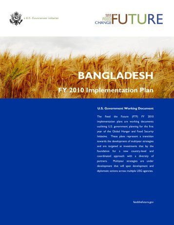 BANGLADESH FY 2010 Implementation Plan - Feed the Future