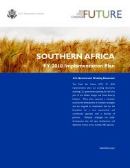 Feed the Future FY 2010 Implementation Plan, Southern Africa