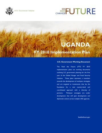 Feed the Future FY 2010 Implementation Plan, Uganda
