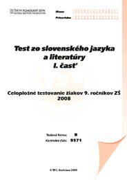 Test zo slovenského jazyka a literatúry - 1. časť, forma B
