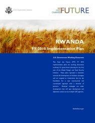 Rwanda FY2010 Implementation Plan - Feed the Future