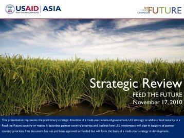 Asia Regional Strategic Review - Feed the Future
