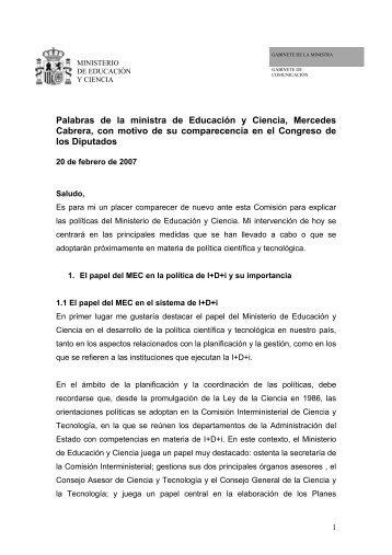 El papel del MEC en la política de I+D+i y su importancia - Madri+d