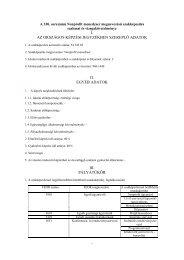 i. az országos képzési jegyzékben szereplő adatok ii. egyéb adatok ...