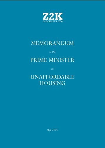 Memorandum-to-the-Prime-Minister-on-Unaffordable-Housing