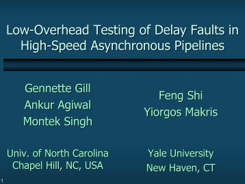 Low-Overhead Testing of Delay Faults in High-Speed Asynchronous ...