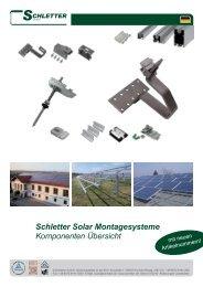 Schletter Solar Montagesysteme Komponenten Ãœbersicht