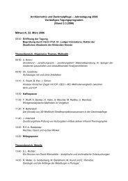 Tagungsprogramm - Arbeitskreis Archäometrie