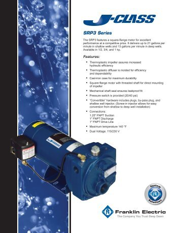 MJ2012 r1 JC Conv Jet Pump - Franklin Electric