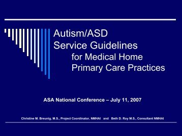Autism/ASD Service Guidelines - Waisman Center - University of ...