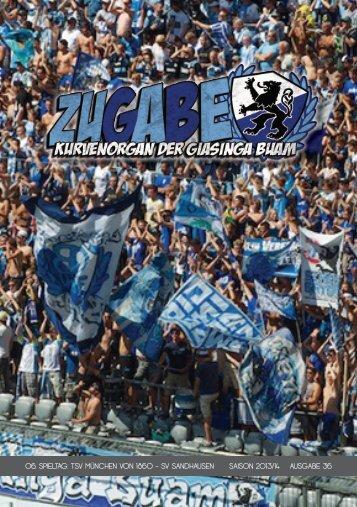 06. spieltag: tsv münchen von 1860 - sv sandhausen saison 2013 ...