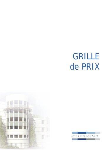GRILLE de PRIX - EGI Patrimoine