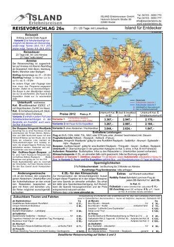 Island für Entdecker 26 (pdf) - ISLAND Erlebnisreisen