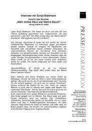 """Interview mit Sonja Blattmann """"Mein erstes Haus war Mamis Bauch"""""""