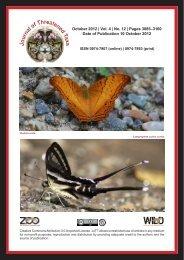 October 2012 - Journal of Threatened Taxa
