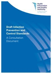 Draft Infection Prevention and Control Standards: A ... - hiqa.ie