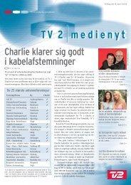 Charlie klarer sig godt i kabelafstemninger - Tv2