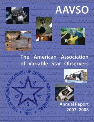 The American Association of Variable Star Observers - AAVSO
