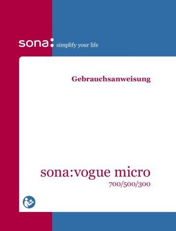 sona:vogue micro Gebrauchsanweisung (PDF, 736kB)