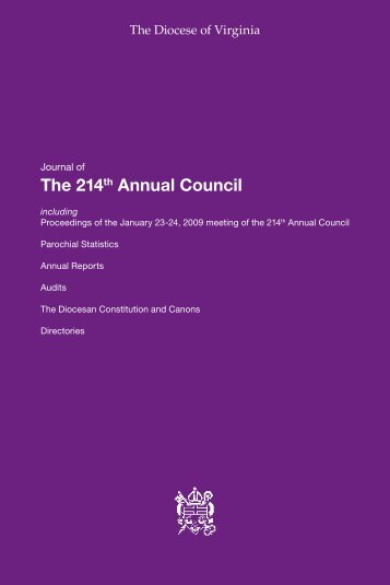 The 214th Annual Council - Diocese of Virginia