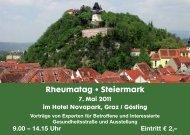 Rheumatag • Steiermark