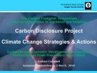 Climate Change Strategies & Actions - SEDA - Saskatchewan ...