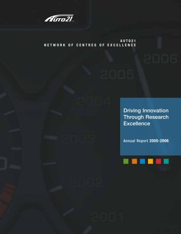Driving Innovation Through Research Excellence - AUTO21