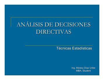 ANÁLISIS DE DECISIONES DIRECTIVAS - Icm