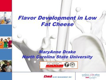 Flavor Development in Low Fat Cheese - InnovateWithDairy.com