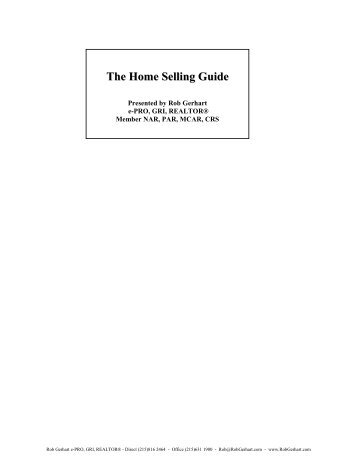 The Listing Packet - Keller Williams Realty