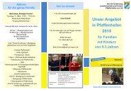 Unser Angebot in Pfaffenhofen 2010 für Familien mit Kindern von 0 ...