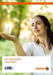 Lampes LED PARATHOM® - Osram