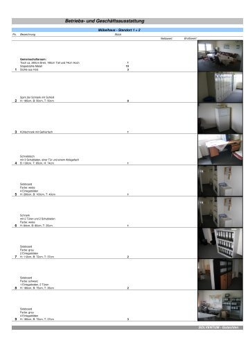 Büromöbel, EDV, Kopierer und Tresor Standort 1 2