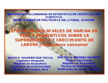 EFECTO DE DOS NIVELES DE HARINA DE KELP Y ... - ICM