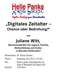 """Digitales Zeitalter – Chance oder Bedrohung?"" mit ... - Reinickendorf"