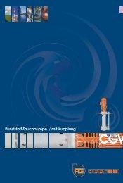Kunststoff-Tauchpumpe CGV - Sonnek Engineering GmbH