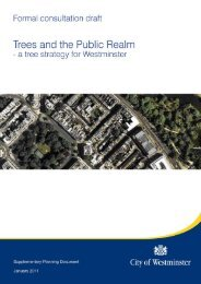 Trees and the Public Realm - Westminster City Council