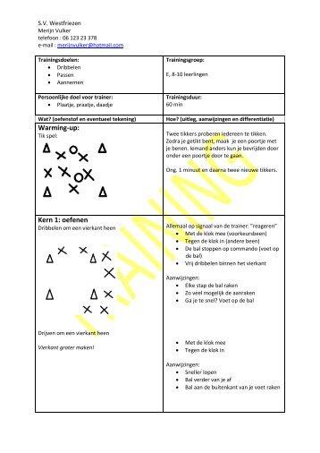 Trainingsformulier E, 5 september 2012.pdf - S.V. Westfriezen