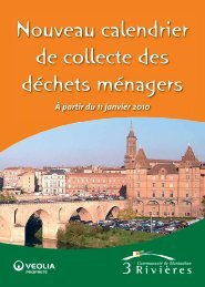 Nouveau calendrier de collecte des déchets ... - CPIE Midi-Quercy