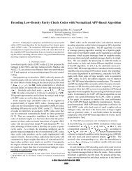 Decoding low-density parity check codes with normalized APP ...