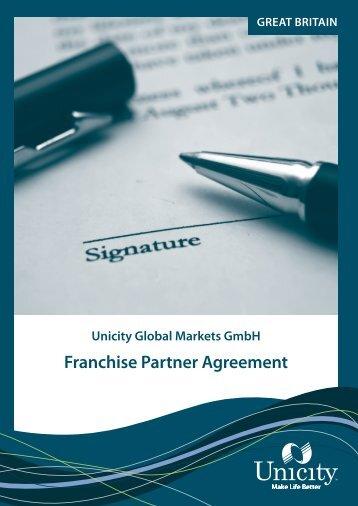 Franchise Partner Agreement - Unicity