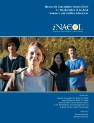 An Exploration of At-Risk Learners and Online Education - iNACOL