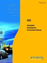 Embedded Development Environment Manual - Tasking