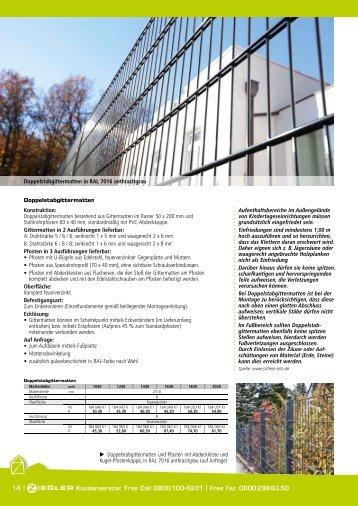 Ziegler Katalog Seiten 14 bis 15