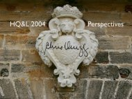 HQ&L 2004 Perspectives