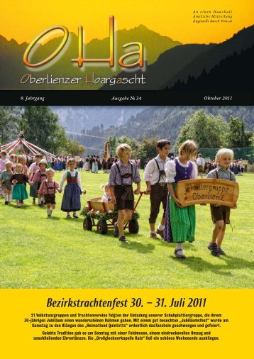 Bezirkstrachtenfest 30. – 31. Juli 2011